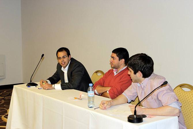 Benjamin Zelaya, Joaquin Svoboda y Gabriel Cejas