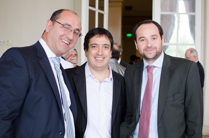 Marcelo Caponio, Luis Sacca y Fernando Stanich