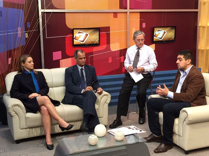"Entrevista a Amarendra Khatua en ""A las 7"" (Grupo Telefé)"