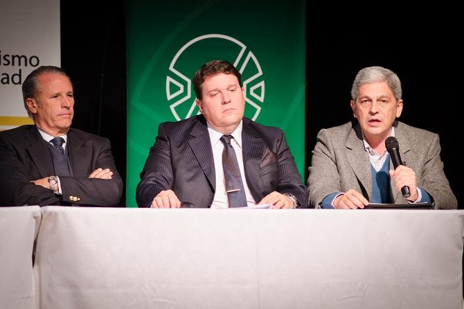 José Manuel García Gonzalez, Llamil Abdala (vicepresidente de la Unión Industrial de Sgo del Estero) y José Ignacio Lobo (presidente de la Sociedad Rural de Tucumán)