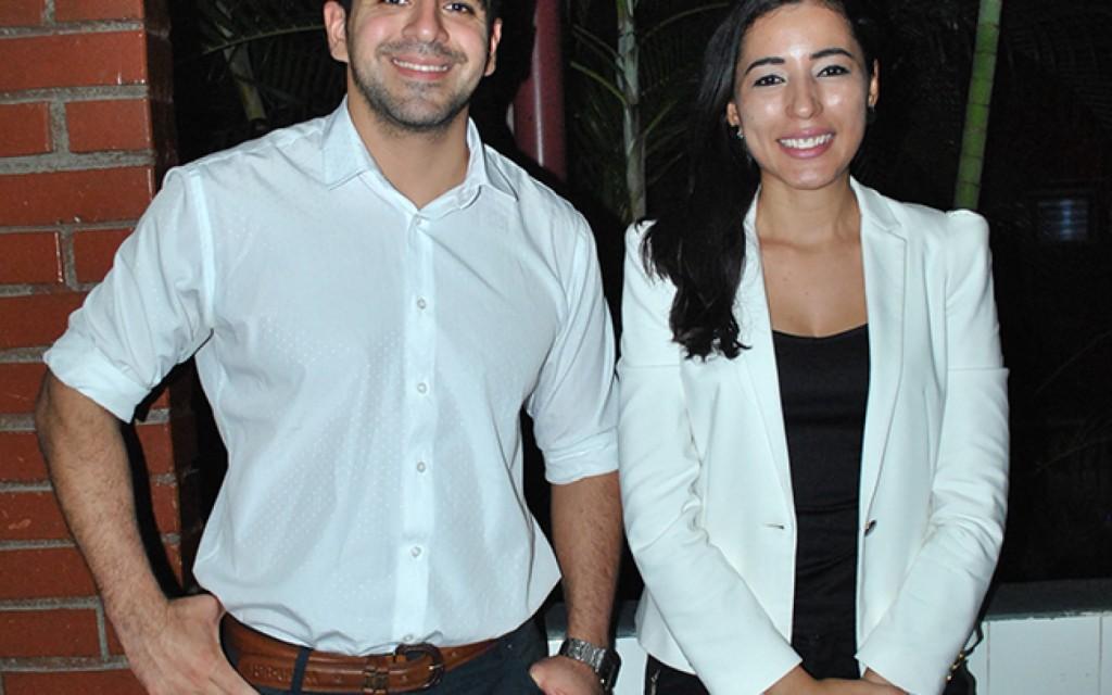 El presidente de Federalismo y Libertad, José Guillermo Godoy junto a Claudia Amaya Martel, Presidente/ Filial Honduras