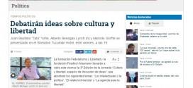 """Nota de La Gaceta de Tucumán sobre la 3ª edición de la Jornada """"Cultura y Libertad"""""""
