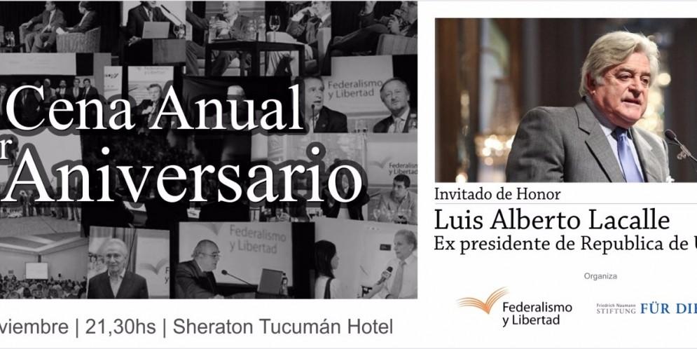 Luis Alberto Lacalle en la Cena Anual de Federalismo y Libertad