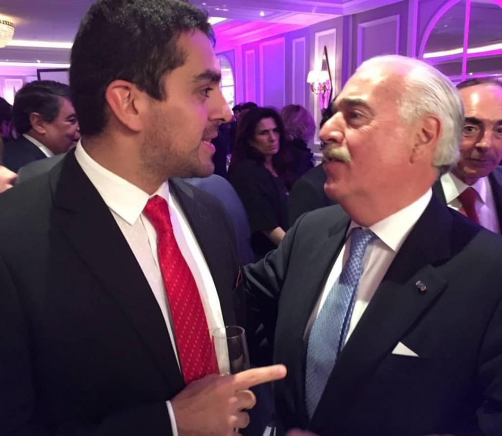 José Guillermo Godoy, junto a Andrés Pastrana, ex presidente de Colombia