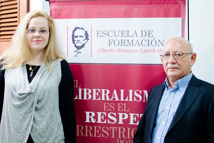 Andrea Barone Renolfi junto a Raúl Soria