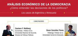"""Salta: Taller de formación: """"Análisis económico de la democracia"""""""