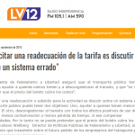 """""""Solicitar una readecuación de la tarifa es discutir sobre un sistema errado"""""""