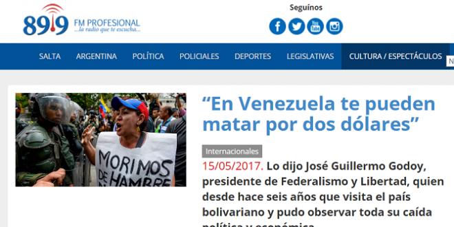 """""""En Venezuela te pueden matar por dos dólares"""""""