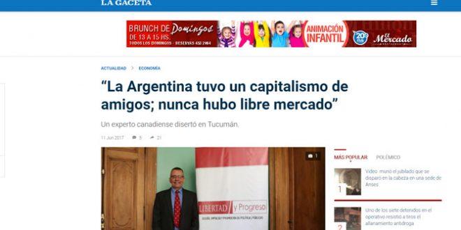 """""""La Argentina tuvo un capitalismo de amigos; nunca hubo libre mercado"""""""