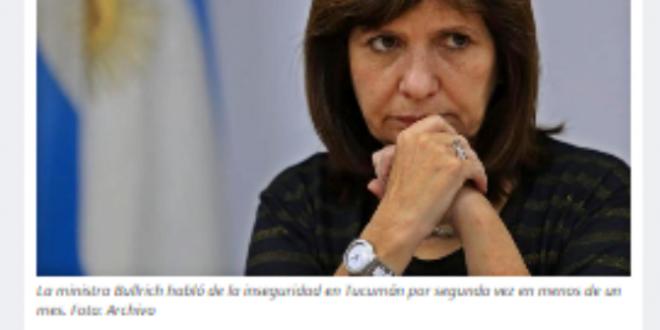 """""""Patricia Bullrich visitará Tucumán la próxima semana"""""""