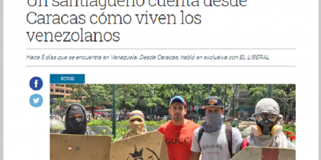 El Presidente de Federalismo y Libertad relata la dura realidad de Venezuela