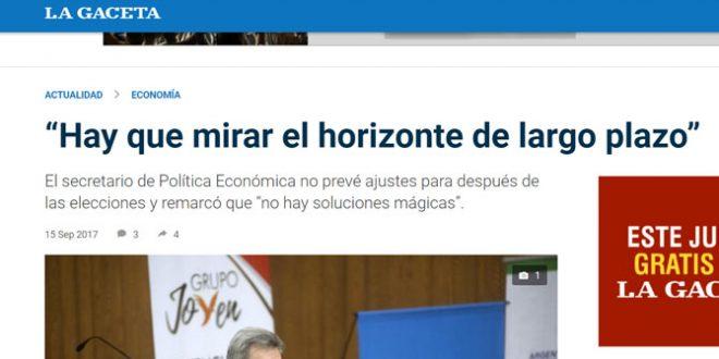 La Gaceta: Sebastián Galiani disertó en la Facultad de Ciencias Económicas de la UNT, invitado por la Fundación Federalismo y Libertad