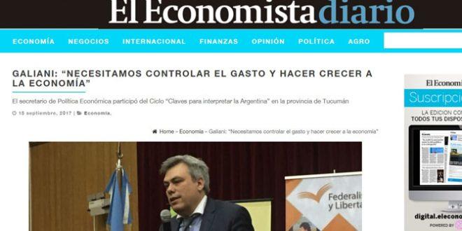 """El Economista: Secretario de Política Económica disertó en Ciclo """"Claves para interpretar la Argentina"""""""