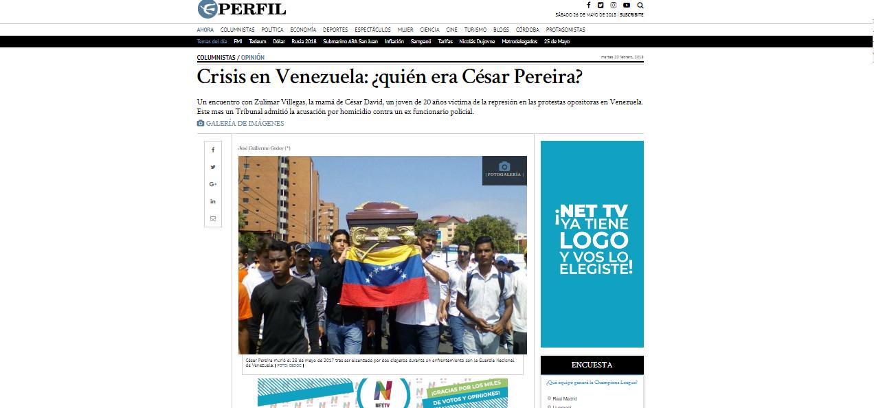 Crisis en Venezuela: ¿quién era César Pereira?