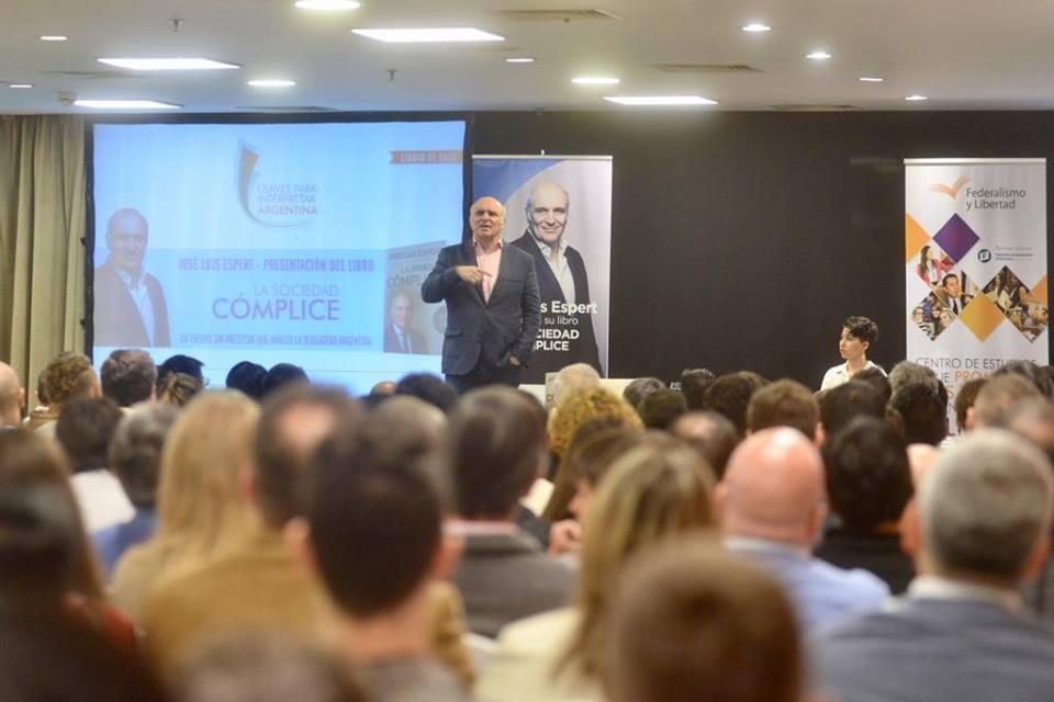 José Luis Espert presentó su último libro en Salta