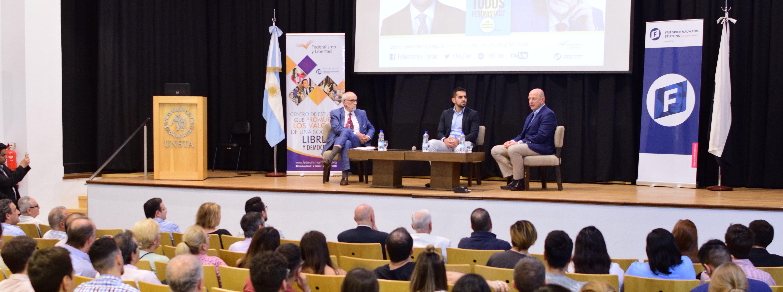 Sergio Berensztein y Marcelo Cavarozzi disertaron en la VII Jornada «Cultura y Libertad»