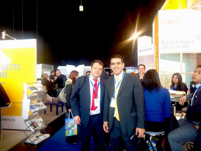 José Guillermo Godoy junto a Emmanuel Martin (Francia)