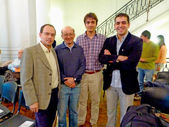 José Bercoff, Gustavo Wallberg, Gabriel Oreste y José Guillermo Godoy