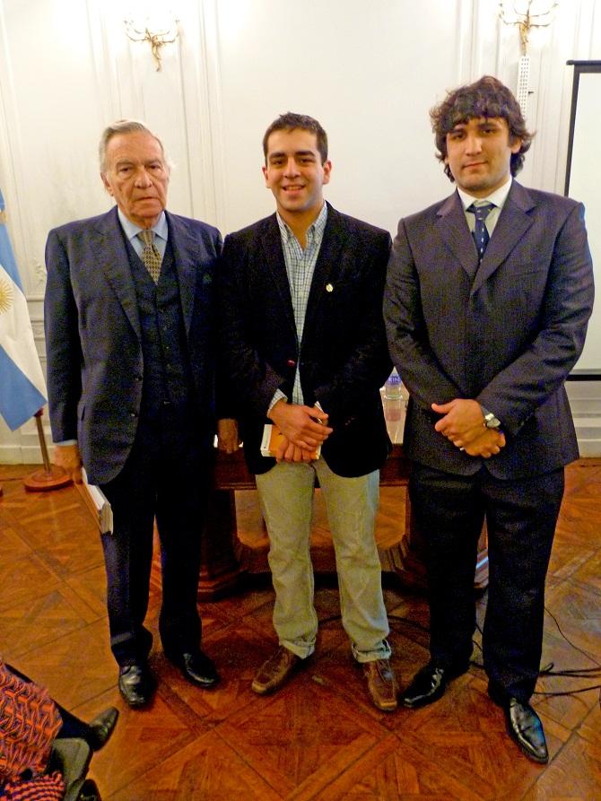 José Maria Nougues, José Guillermo Godoy y Manuel Guisone