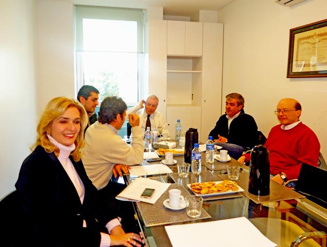 reunión de trabajo Jose Cano y Roberto Sanchez