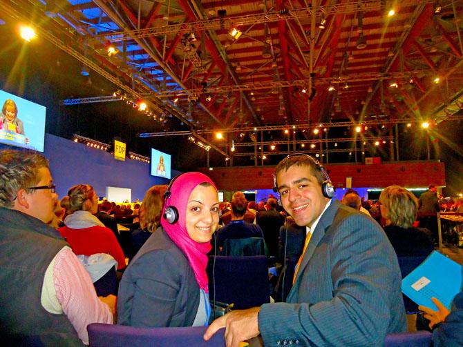 José Guillermo Godoy  y Dina Hasan Yasin (Jordania).
