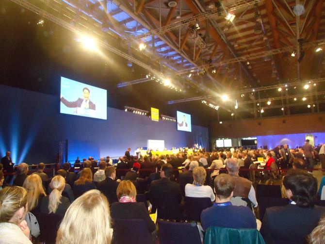 Dr. Philipp Rösler, Presidente Nacional del FDP, Convención Nacional del Partido Democrático Liberal (Freie Demokratische Partei, FDP),