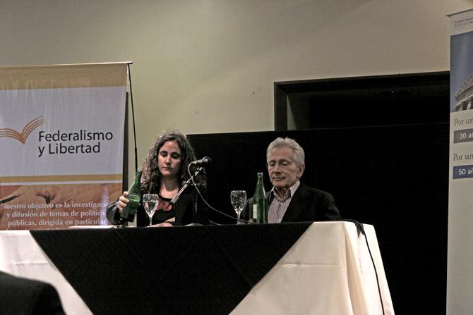 Irene Benito y Marcos Aguinis