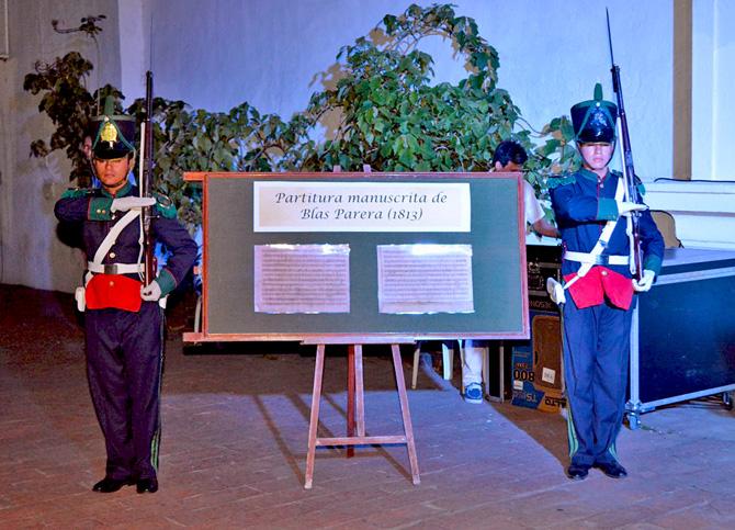 Copia de la Partitura original del Himno Nacional argentino