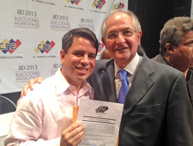 Oscar Gonzalez Flores y Antonio Ledezma Alcalde Metropolitano