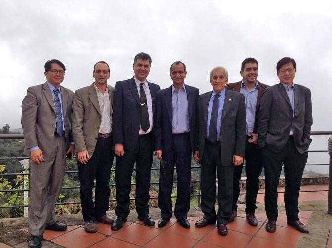 El Embajador de India, junto a los Directores Comerciales de Taiwan, integrantes de Federalismo y Libertad y Manuel Belgrano, descendiente de heroe de independencia