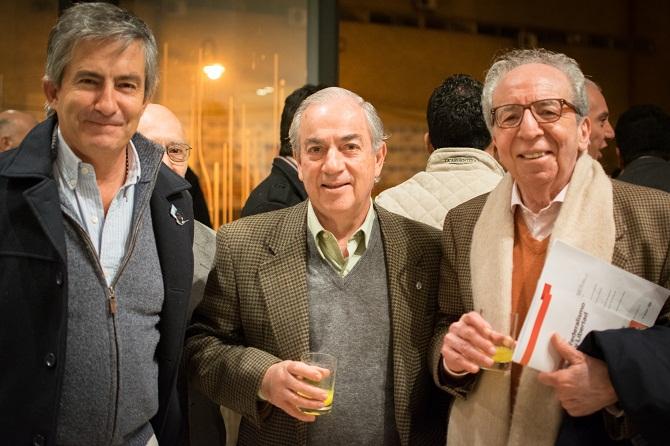 Guillermo Cantero, Antonio Benito y Edmundo Saieg