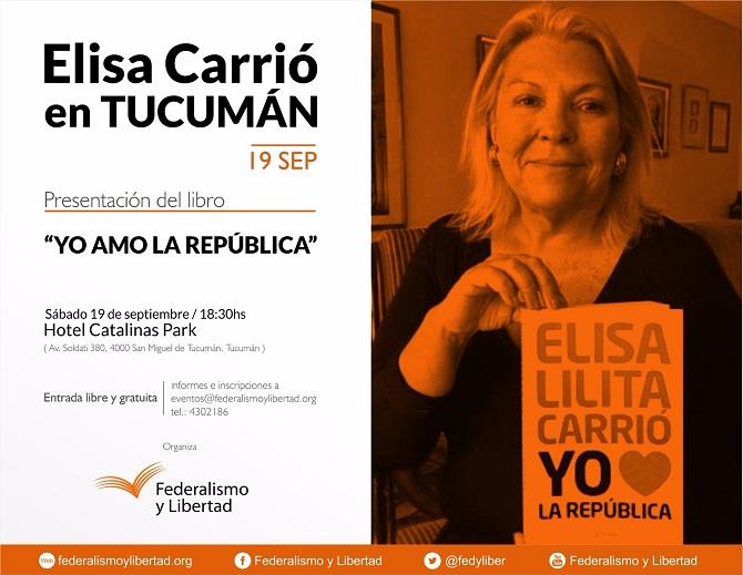 Elisa Carrio en Tucuman