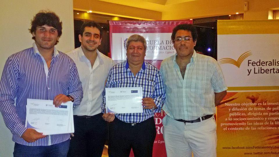 Manuel Guisone, José Guillermo Godoy y Fabián Soberón