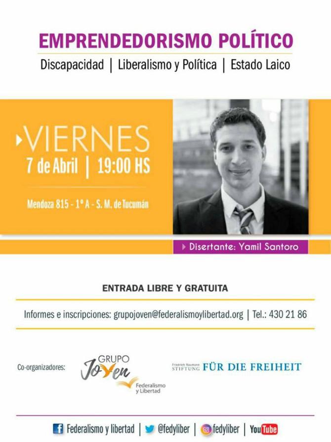 Yamil Santoro en Tucumán: Taller de Emprendedorismo Político