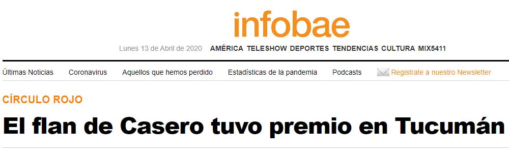 Nota en Infobae sobre la visita de Alfredo Casero a Tucumán