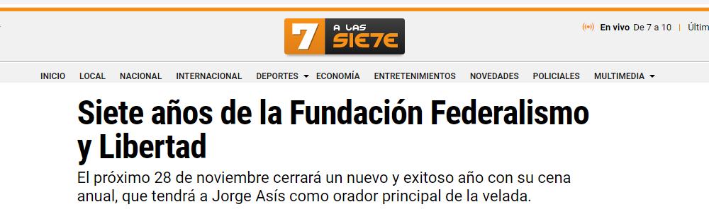 Tucumán a las 7: reseña de los Siete años de la Fundación Federalismo y Libertad