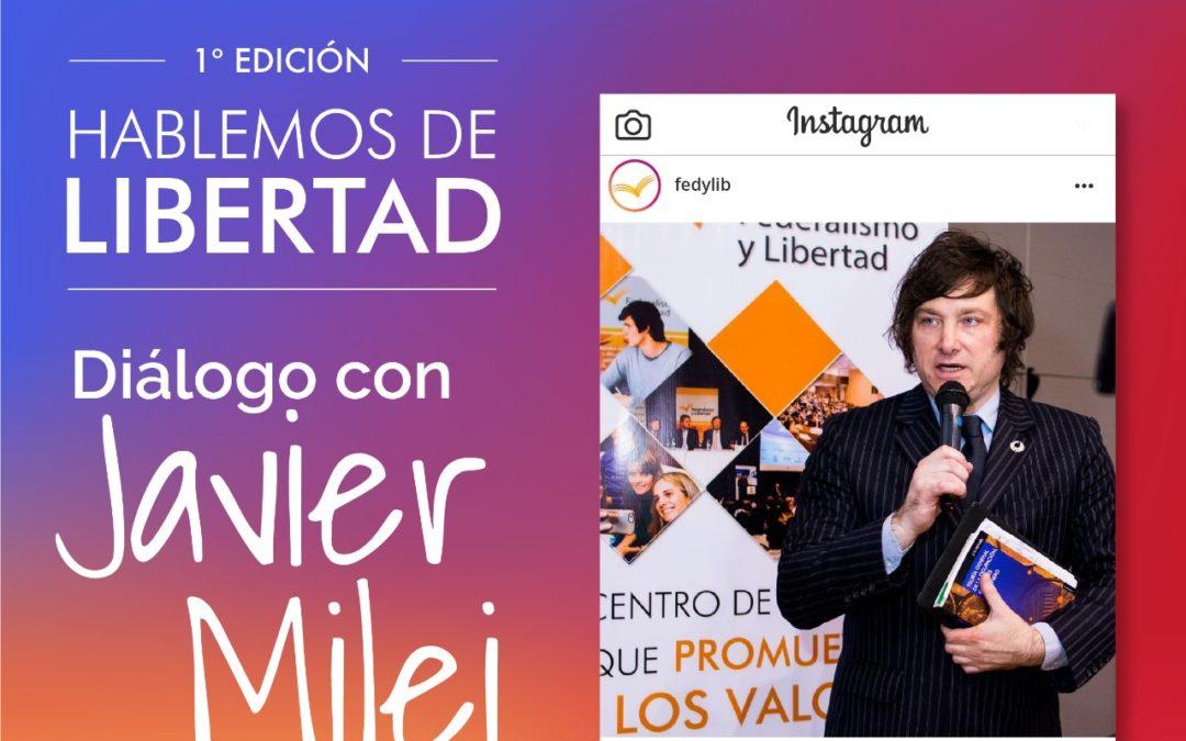 Diálogo con Javier Milei en Instagram