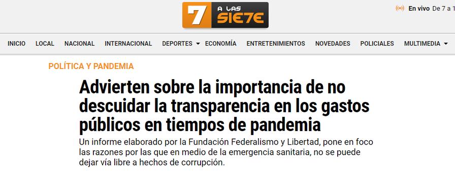Tucumán a las 7: Advierten sobre la importancia de no descuidar la transparencia en los gastos públicos en tiempos de pandemia