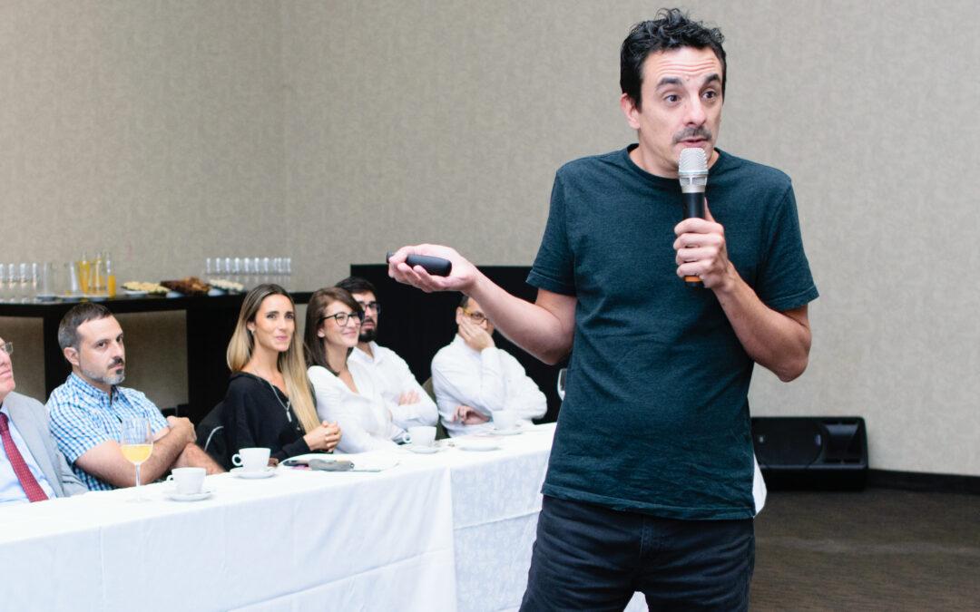 Jorge Giacobbe: café con empresarios y presentación del equipo de Políticas Públicas