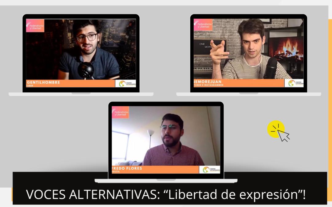 Voces alternativas: LIBERTAD DE EXPRESIÓN