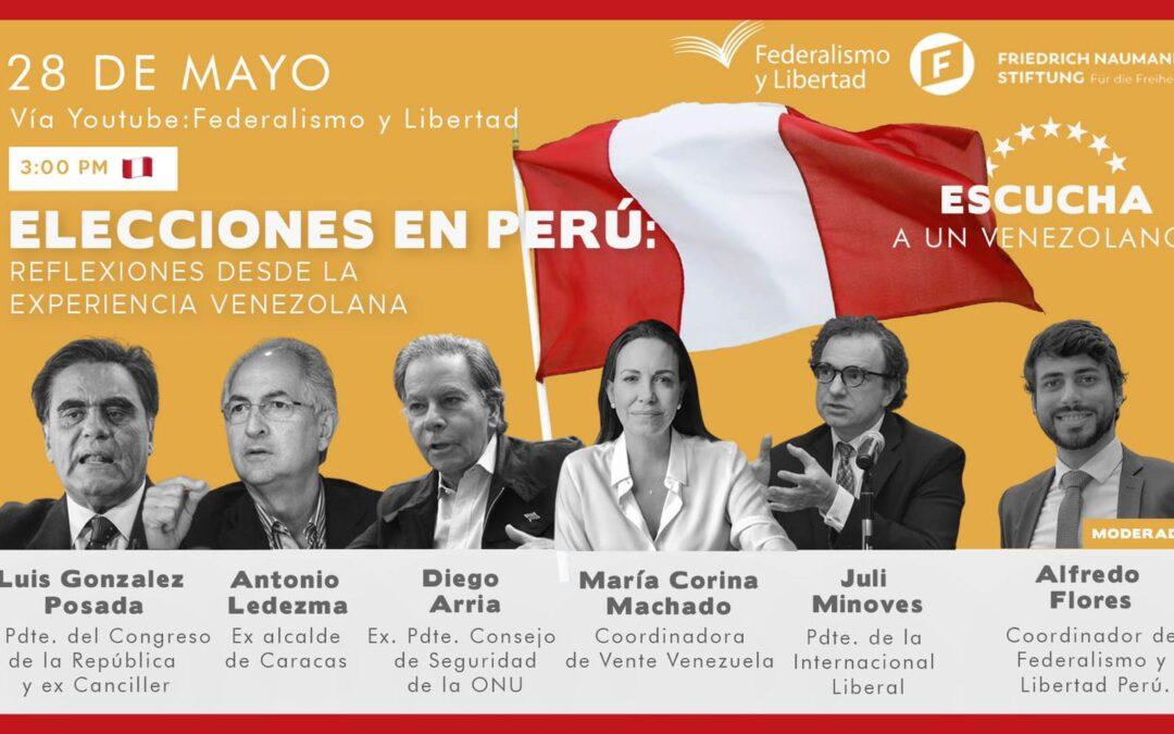 Políticos venezolanos participarán en foro sobre  Elecciones en Perú